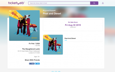 Peat and Diesel to gig in London in 2020
