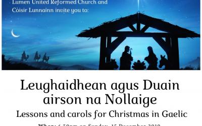Gaelic Carol Service at Lumen Church