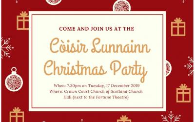London Gaelic Choir Christmas Party