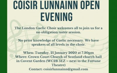 London Gaelic Choir open evening